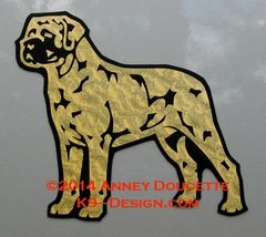 Mastiff Stand Front Magnet