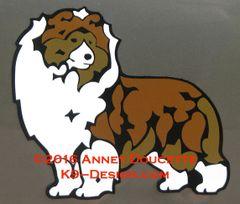 Shetland Sheepdog Standing Magnet - Choose Color