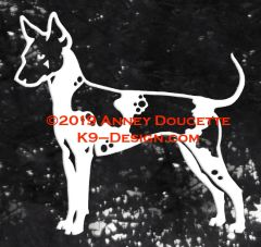 American Hairless Terrier Stacked Decal