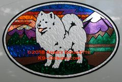 "American Eskimo Dog ""Colorado"" XL Oval Magnet"