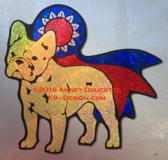French Bulldog With Ribbon Magnet - Choose Dog & Ribbon Color