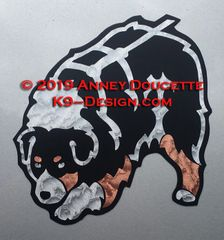 Australian Shepherd Tracking Magnet - Black Tri or Red Tri
