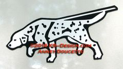 Dalmatian Tracking Magnet - Choose Color