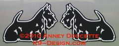 Scottish Terrier Standing Magnet - Choose Color