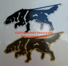 Flat-Coated Retriever Tracking Magnet - Choose Color