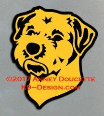 Border Terrier Headstudy Magnet