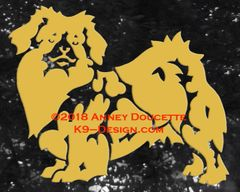 Tibetan Spaniel Standing Decal - Choose Color