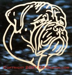 Bullmastiff Headstudy Decal - Choose Color