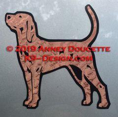 Redbone Coonhound Stacked Magnet