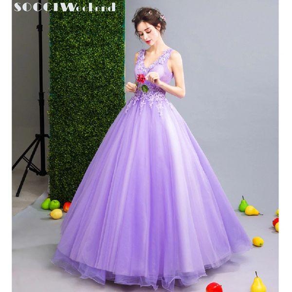 Wholesale SOCCI WEEKEND 2017 Lavender purple Prom Dresses V Neck ...