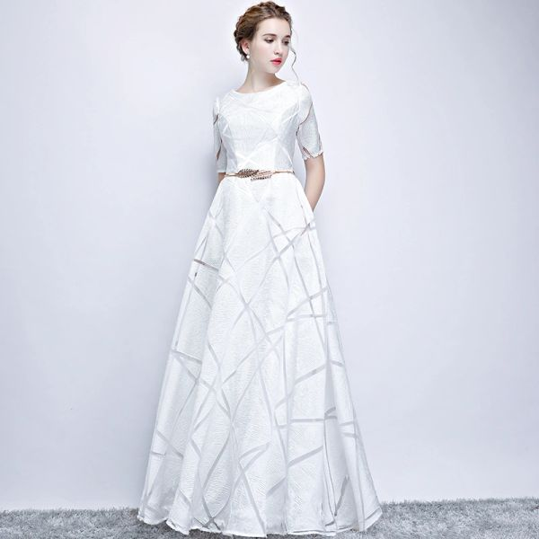 Wholesale SSYFashion New Simple White Evening Dress The Bride ...