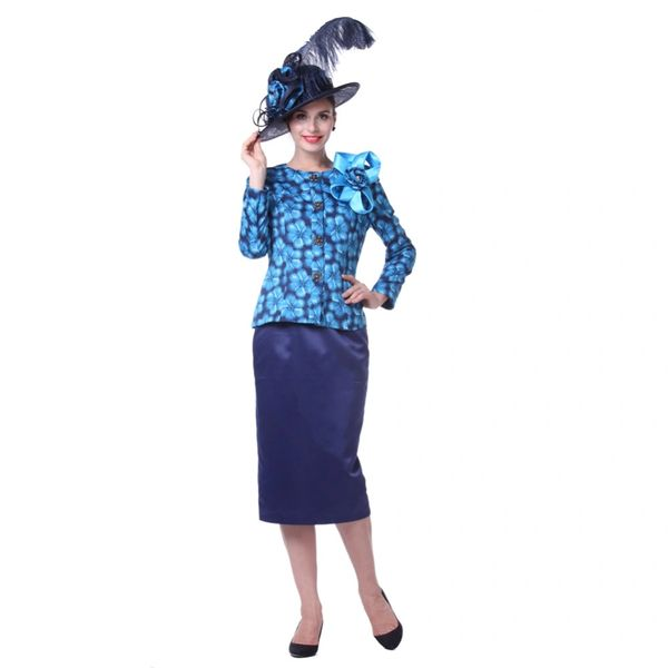 Wholesale Closeout Kueeni Women Church Suits Outwear Outwear Mother of the  Bride Hat Navy Color Round Collar Contrast Color Elegant Lady Wedding. d38fbdb76dd
