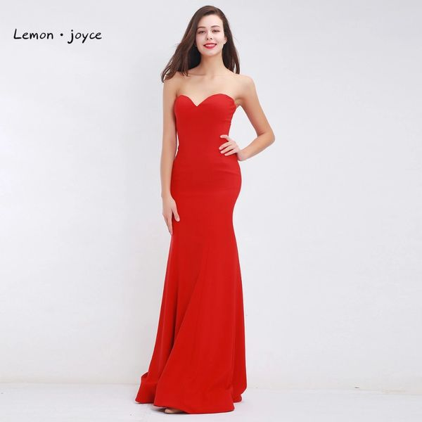 Wholesale Red Mermaid Evening Dresses 2017 Long Elegant Sweetheart ...