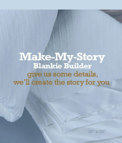 Easy order make my story custom baby blanket 30x30 white easy order make my story blankie builder white 100 cotton blanket w 2 inch satin edge 30x30 blanket style temporarily out of stock negle Gallery