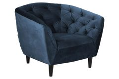 Bergen Easy Chair Navy Blue