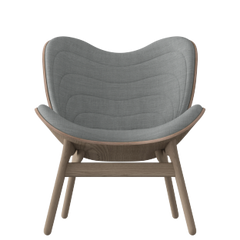 A Conversation Piece Armchair - Oak - Silver Grey