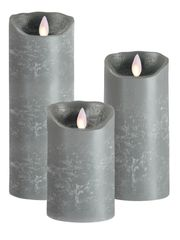 Real Wax LED Candle (Grey)