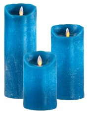 Real Wax LED Candle (Petrol)