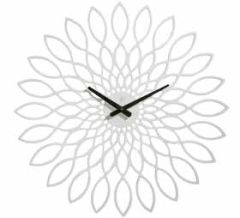 Oslo Wood White Clock