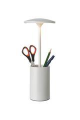 Tidy White Storage Table Lamp