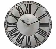 Bordeaux Silver Clock