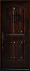 Natural Knotty Alder Distressed Prefinished Solid Wood Prehung Front Door #KA-MCD-SGL80