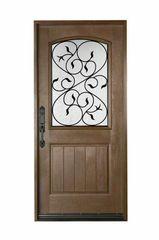 Fiberglass Door #FD-04W3680BK/MW/BG1