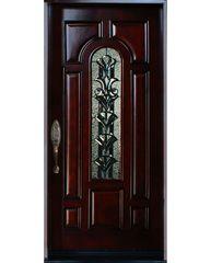 Natural Mahogany Prefinished Solid Wood Prehung Front Door #M280A-SBL80