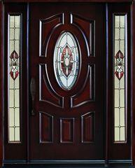 """Exterior Entry Wood Door #Gloria 64 1/4"""" x 81"""""""