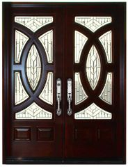 "Mahogany Prefinished Solid Wood Door #680A-H80"""