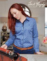 Jack Murphy Paisley Blue Shirt