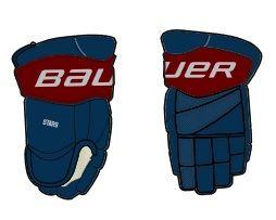 2017 STARS JR Bauer Team Glove