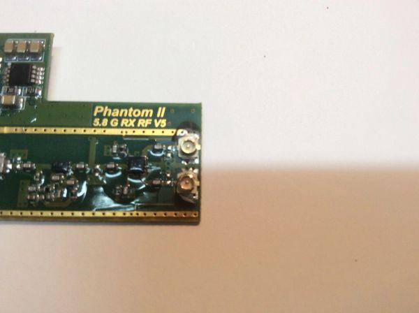 Phantom 4 Pro Drone >> DJI Phantom 2 V/V+ Radio Receiver(Cables/ Antennas Removed | FPVCustoms Antenna Uppgrades For Drones