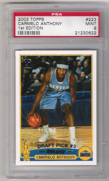 2003 Carmelo Anthony Topps1st Edition ROOKIECARD PSA 9 mint