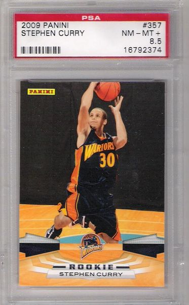 2009 Stephen Curry, Panini RC PSA 8.5 NM-MT+