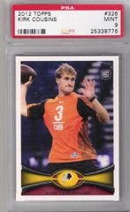 2012 Kirk Cousins Topps #326 Redskins PSA 9 MINT