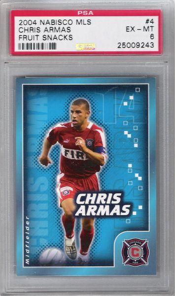 2004 Chris ARMAS NABISCO MLS FRUIT SNACKS PSA 6