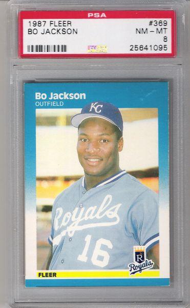 1987 Bo Jackson Fleer #369 ROYALS PSA 8