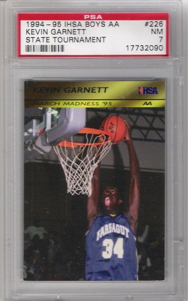 1994-95 KEVIN GARNET ROOX High SCHOOL Rookie PSA 7