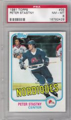 1981 Peter Stastny Topps Rookie Card PSA 8