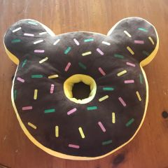 "Teddy Bear Ears ""Donut"" Pillow"