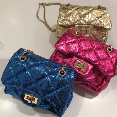 Metallic Mini Quilted Bag