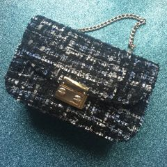 Lurex Tweed Sequin Purse