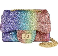 Rainbow Glitter Mini Bag