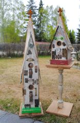 "Large ""Duplex"" Church Birdhouse"