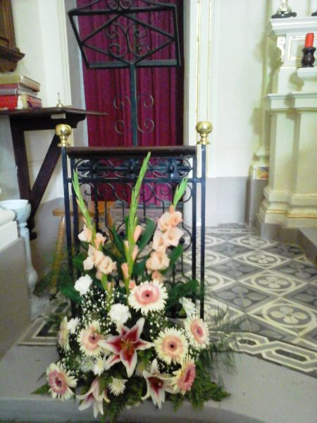 Ambone flower arrangement