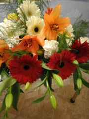 Lilium and gebera flower bouquet