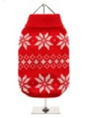 RED SNOWFLAKE SWEATER