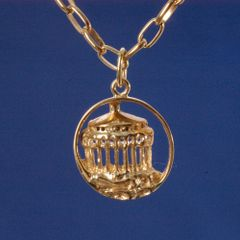 Casino Pendant 14K Gold Collection - Small