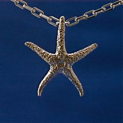 Starfish Pendant in Sterling Silver - Large